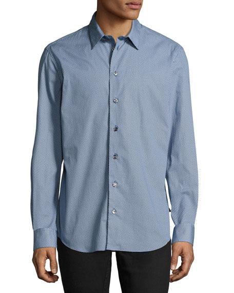 Armani Collezioni Gingham Sport Shirt, Blue/White
