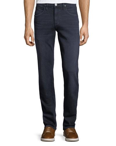 Byron Straight-Leg Denim Jeans, Light Blue