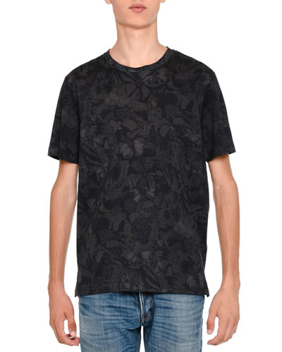 Camu Butterfly Rockstud Short-Sleeve T-Shirt, Black Tonal
