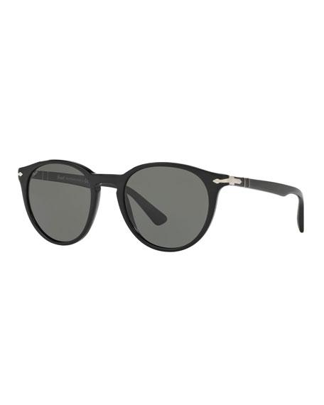 Persol Men's Round Acetate Sunglasses