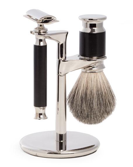 Bey-Berk Shaving Set w/ Safety Razor & Cream Brush