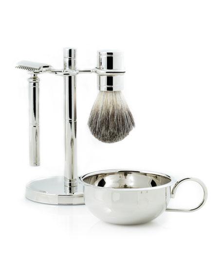 Bey-Berk Shaving Set w/ Safety Razor, Cream Brush and Soap Dish