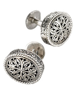 Konstantino Carved Cuff Links
