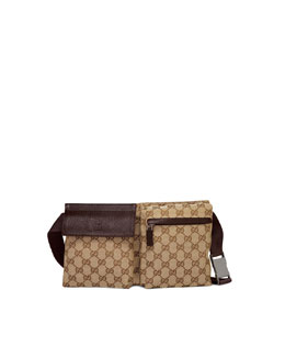 Gucci Canvas Belt Bag, Cocoa