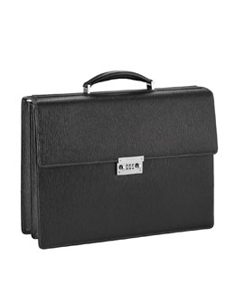 Salvatore Ferragamo Revival Double-Gusset Briefcase