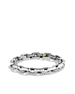 David Yurman Empire Link Bracelet with Gold