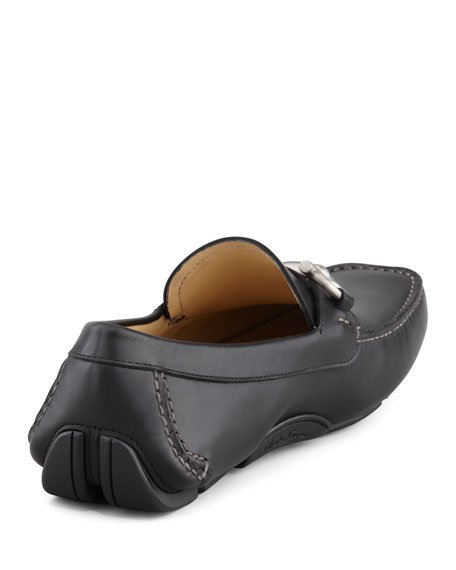 Parigi Leather Gancini Driver, Black