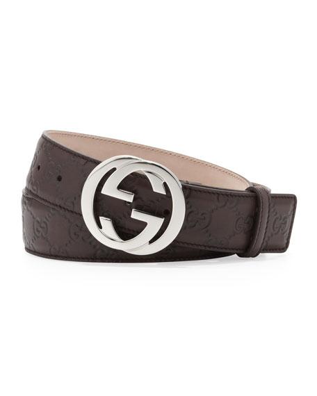 Guccissima GG Belt