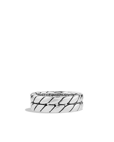 David Yurman Curb Chain Band Ring