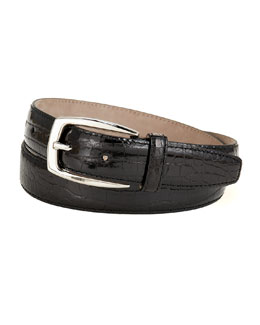 Brioni Shiny Croc Belt