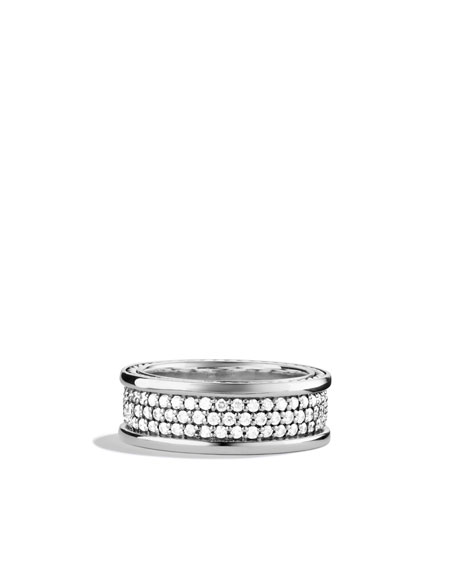 8.5mm White Diamond Pave Ring