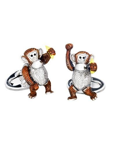 Jan Leslie Moving Monkey Cuff Links
