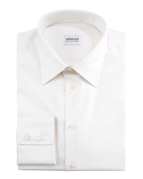 Modern Fit Basic Dress Shirt, Ecru
