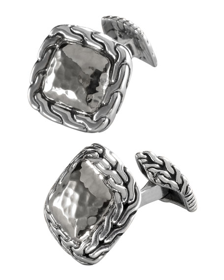 Palu Silver Square Cuff Links