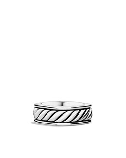David Yurman Sculpted Cable Narrow Square Band Ring