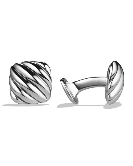 David Yurman Cable Cushion Cuff Links