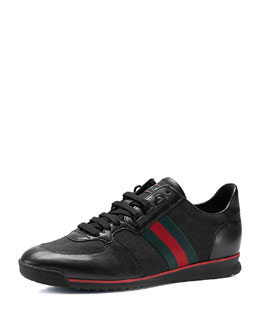 Gucci Leather/Canvas Sneaker