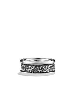 David Yurman Waves Wide Band Ring