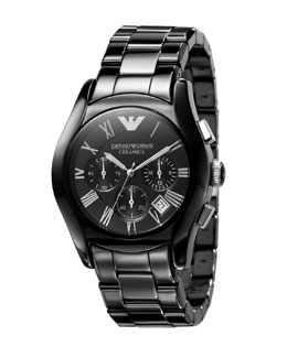 Emporio Armani Ceramic Watch, Black