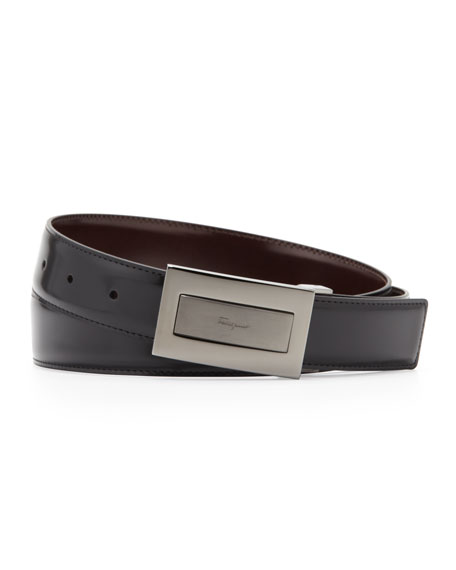 New Plaque Reversible Belt