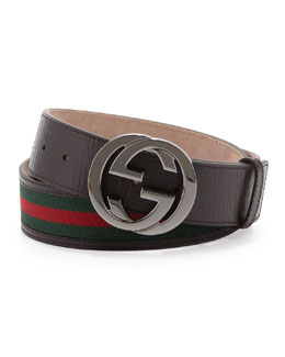 Gucci Interlocking G Belt, Cocoa