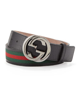 Gucci Interlocking G Belt, Black