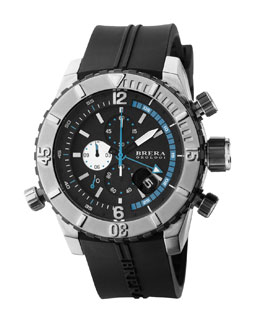 Brera Sottomarino Diver Watch, Steel