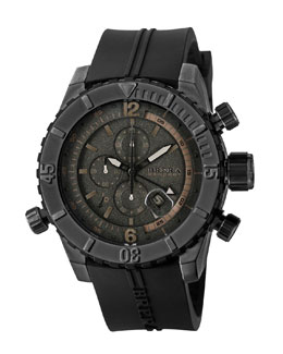 Brera Sottomarino Diver Watch, Black