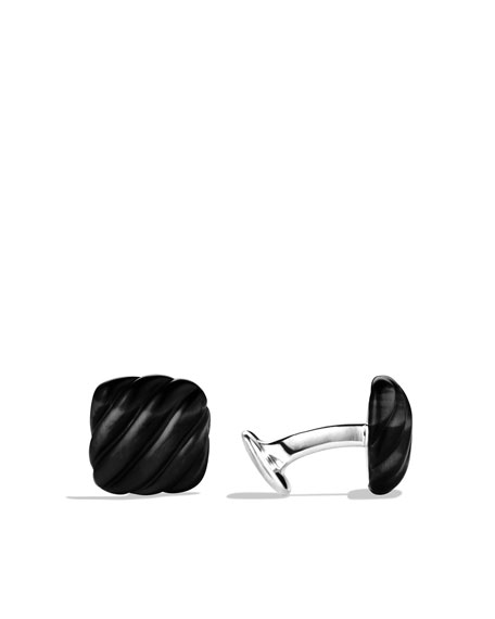Exotic Stone Cuff Links with Black Onyx