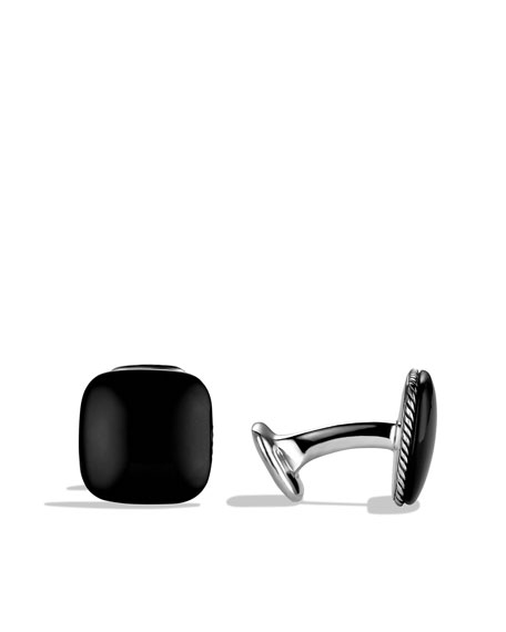 Streamline Cuff Links with Black Onyx