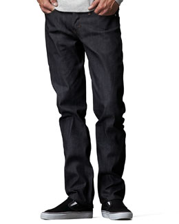 Naked and Famous Denim WeirdGuy Deep Indigo Selvage Jeans