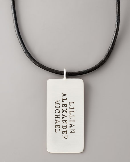 Personalized Dog Tag, 3 Lines