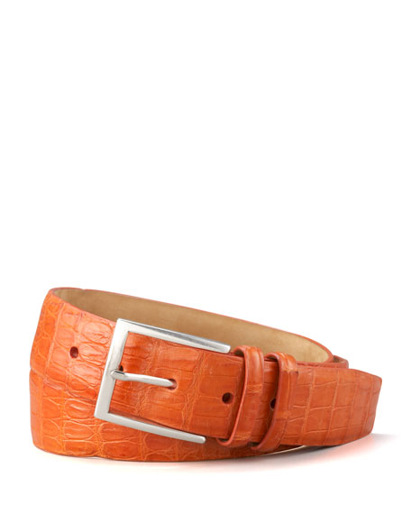 Crocodile Belt, Orange