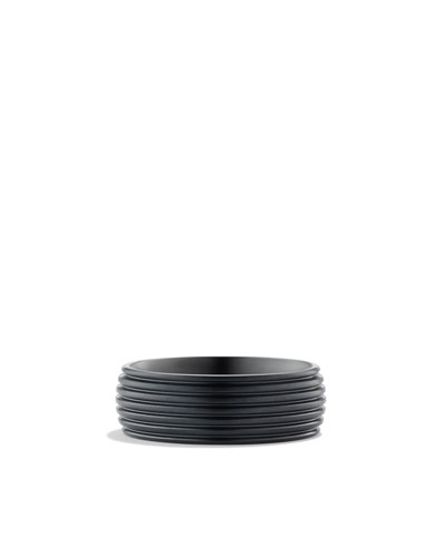 David Yurman Royal Cord Wide Band Ring with Black Titanium