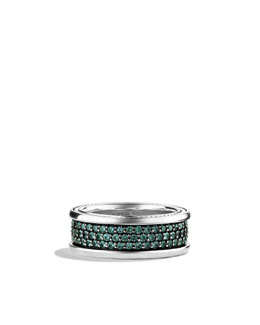 David Yurman Streamline Three-Row Band Ring with Color Change Garnets