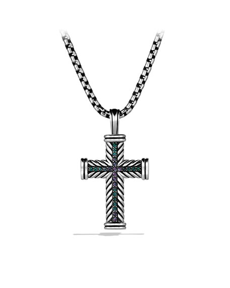 Color Change Garnet Cross Necklace
