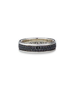 David Yurman Streamline Two-Row Band Ring with Sapphires