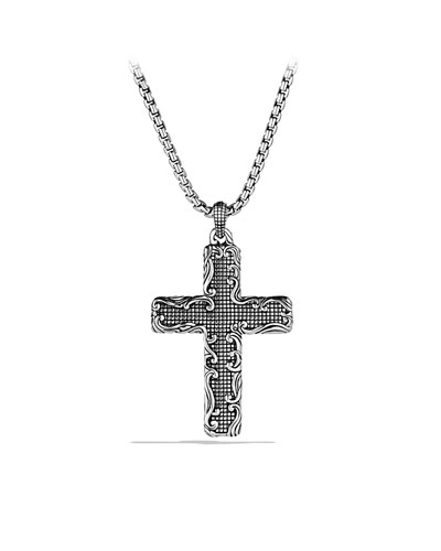 David Yurman Waves Cross on Chain
