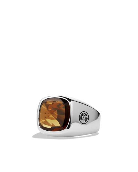 Signet Ring, Cinnamon Quartz