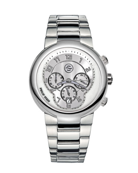 Gray Active Chronograph Watch on Stainless Steel Bracelet