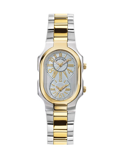Philip Stein Signature Two-Tone Watch on Interchangeable Stainless Steel Bracelet