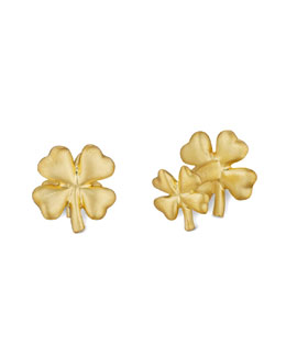 Robin Rotenier Four-Leaf Clover Cuff Links
