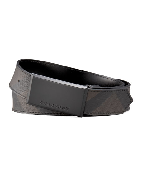 Logo-Buckle Check Belt