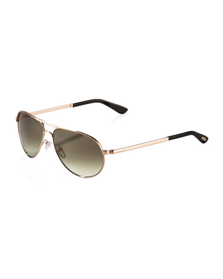 Mathias Aviator Sunglasses, Gunmetal