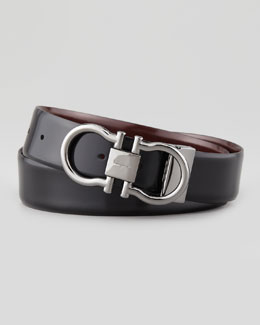 Salvatore Ferragamo Reversible Gancini Belt