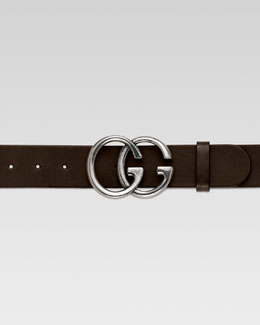 Gucci Men's GG Adjustable Belt, Brown