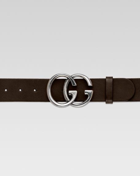 Men's GG Adjustable Belt, Brown