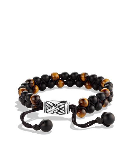 Spiritual Bead Bracelet, Black Onyx, 6mm