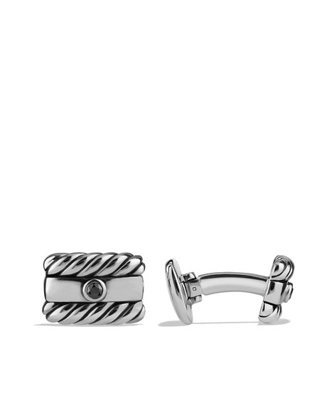 Royal Cord Cuff Links, Black Diamond