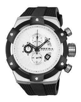 Brera 48mm Supersportivo Watch, White